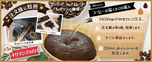 注文後焙煎コーヒーvol5 キリマンジャロ
