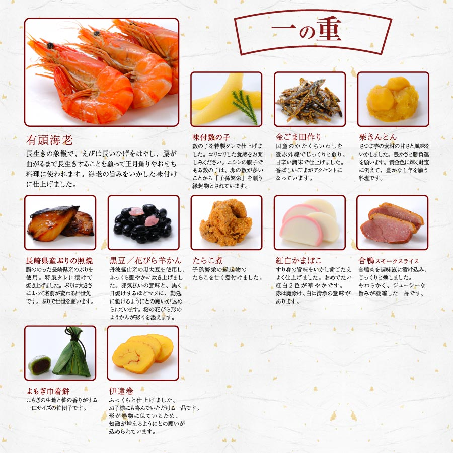 一の重紹介「2022はま寿司おせち 彩り三段重」