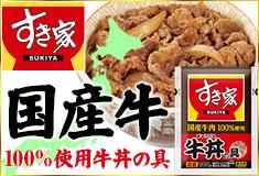 国産牛肉100%使用牛丼の具